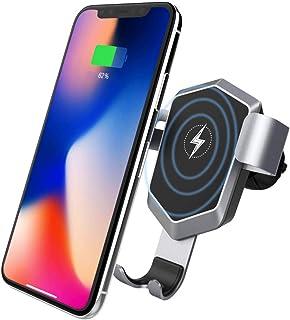 ワイヤレス充電器 車用 車載Qi ワイヤレス充電器 車載充電器 車載ホルダー ワイヤレス Qi 急速充電器 10W10W/7.5W/5W Qi認証済み iPhone 8/8+ /X/XS/XS MAX/XR, Galaxy S8/S8+/S9 /S9+/Note 8/S8, Nexus4/5/6, Sony SZ2/Xperia XZ3, HUAWEI Mate 20/20 pro/RSなどQI機種対応
