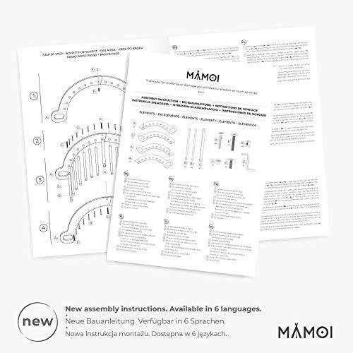 MAMOI Triangle Gym Dreieck mit Rutsche Kletter Wippe Holz Natürliche Materialien - 8
