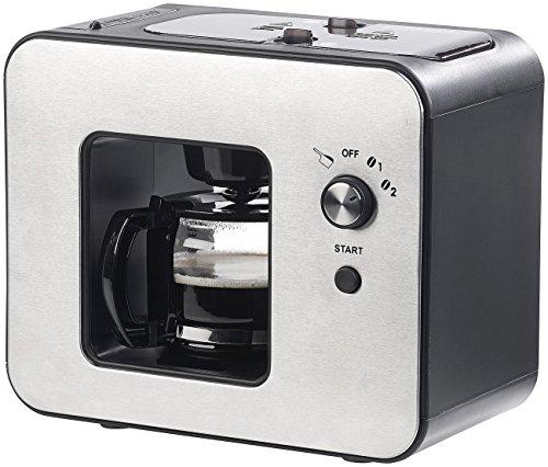 Rosenstein & Söhne Kaffeevollautomat: Vollautomatische Design-Kaffeemaschine mit Bohnen-Mahlwerk, 800 Watt (Kaffeevollautomat Retro Design)