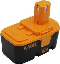 KINSUN Sustitución poder herramienta batería 18V Ni-MH 3000mAh para Ryobi Taladro inalambrico atornillador de impacto 130224028 ABP1801 ABP1803 BPP-1813 BPP-1815 BPP-1817 BPP-1817M BPP-1820