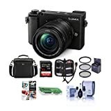 Panasonic Lumix DC-GX9 20.3MP Mirrorless Camera with 12-60mm F3.5-5.6 Lens, Black - Bundle with Camera Bag, 32GB SDHC U3 Card, Cleaning Kit, Memory Wallet, Card Reader, 58mm Filter Kit, Software Pack