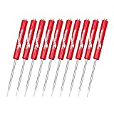 TASAN RACING 10Pcs Mini Tops and Pocket Clips Pocket Screwdriver Strong Magnetic Slotted Screwdriver Red
