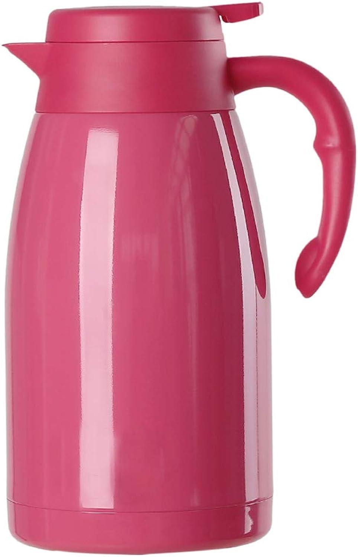 1,5 litre de café isotherme en acier inoxydable de qualité aliHommestaire avec une verseuse isotherme avec un bouton-poussoir, rétention de chaleur à froid de 24 + heures pour le café, le thé, les boisso