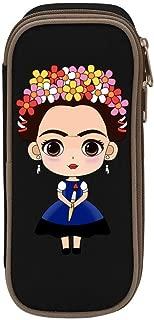 Pencil Case Frida Kahlo Self-Portrait Big Capacity Pen Case Stationery Pouch Desk & Office Organizer Zipper Bag Makeup Pouch