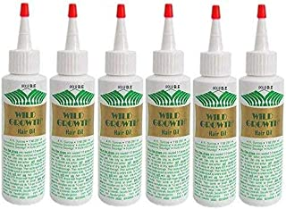 WILD GROWTH HAIR OIL 4 oz Bottle (Special 6 PACK) Detangler/Extender! With Olive oil, Jojoba oil, Coconut oil & more!