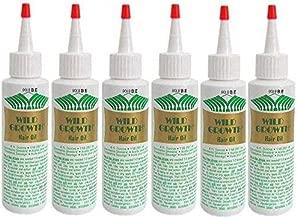 WILD GROWTH HAIR OIL 4 oz Bottle (Special 6 PACK) Detangler/Extender! With Olive oil, Jojoba oil, Coconut oil & more!