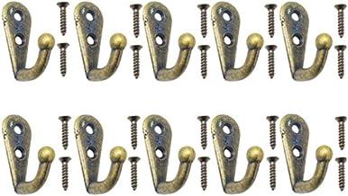 10 stuks wandhouders, single prong haak retro mini size brons kledinghanger voor wassleutels hoed handdoek robe badkamerhaken