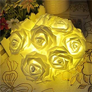 Decoration Light 20 LED Rose Flower String Strip Fairy Lights For Holiday Wedding Decor Light