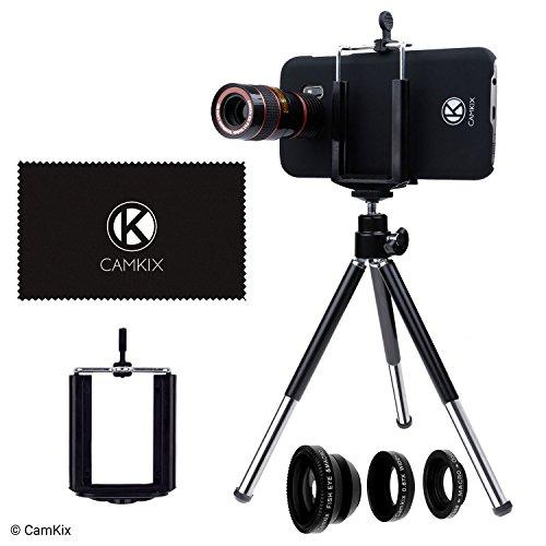 Kamera Objektiv Kit für Samsung Galaxy S7 und S7 Edge - beiden Fällen enthalten - inkl.: 8 x Teleobjektiv, Fisheye-Objektiv, Makro-Objektiv, Weitwinkel-Objektiv, Stativ, Halterung