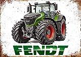BITT Fendt Tractor Farm - Cartel de metal retro para decoración de la pared del hogar y de la barra, 20 x 30 cm