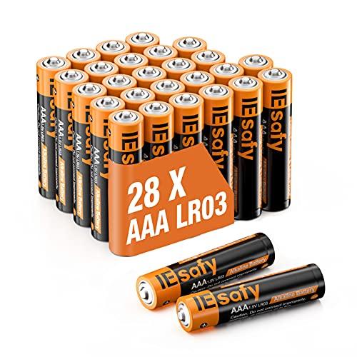 28 pilas alcalinas AAA de 1,5 V LR03, larga duración de 10 años, mini pilas AAA, aptas para mando a distancia, juguetes, despertadores, relojes, etc.