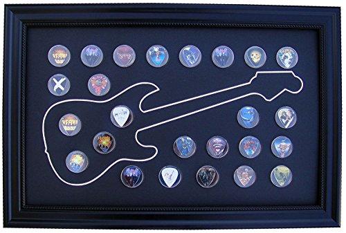 Black Display Frame for Guitar Picks (Not Included), Electric Design