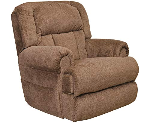 Catnapper Burns 4847 Power Dual Motor Infinate Position Full Lay Out Lift Chair Recliner 400 lb Capacity - Ash Gray Fabric with in-Home Delivery and Setup