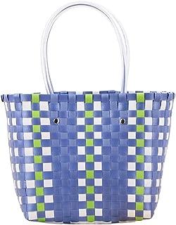 Women's Retro Portable Woven Handbags Handmade Weaved Beach Bag Large Summer Tote Handbags for Everyday Casual Vocation Picnic Zhhlaixing