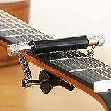 capo per chitarra, capo scorrevole e mobile per chitarra, clip per accordatura per chitarra rotante, chitarra acustica elettrica, ukulele universale, accessori per chitarra, nero