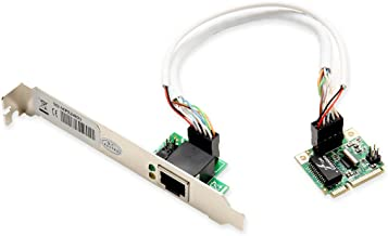 Syba Gigabit Ethernet Mini PCI Express PCI-E Network Controller Card 10/100/1000Mbps RJ45 LAN NIC Card RTL8168C chipset