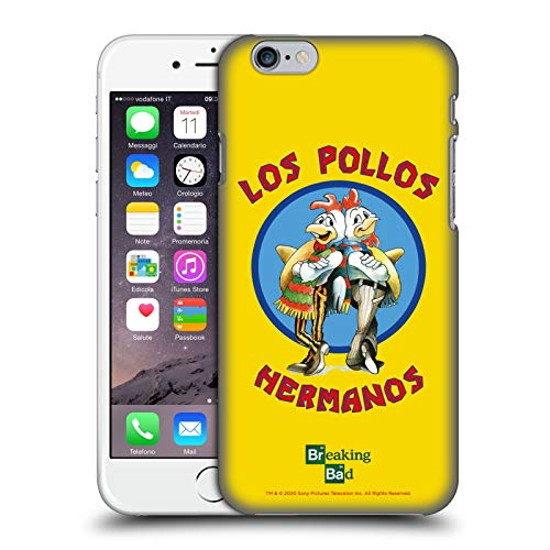 Ufficiale Breaking Bad Los Pollos Hermanos Grafiche Cover Dura per Parte Posteriore Compatibile con Apple iPhone 6 / iPhone 6s