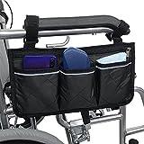 Gobesty Bolsa de almacenamiento segura para sillas de ruedas, accesorio para silla de ruedas, bolsa...