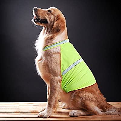 Vizpet Reflective Dog Vest with Lightweight Adjustable Strap & Comfortable Material Ideal To Keep Dogs Safe While Walking & Hunting