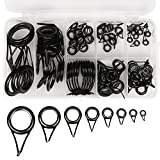 Anglerbasics Fishing Rod Guide Sets Tip Repair Kit Rod Part Fishing_USA (75 PCS for Lure Rod Only)