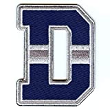 City Of Dallas D Logo Patch Football Jersey Embroidered Iron On