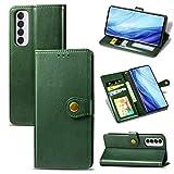 zhuwei para El Estuche OPPO Reno 4 Pro 4G, Estuche Redondo Magnético De PU con Patrón De Revit con Portatarjetas(Color:Verde)