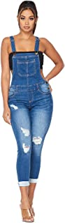 SOHO GLAM Women's Regular and Plus Size Ankle Length and Short Denim Overalls