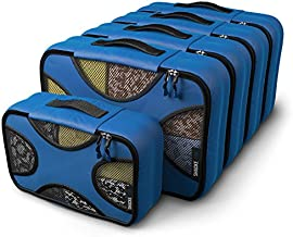 Shacke Pak - 5 Set Medium/Small Packing Cubes - Travel Organizers (Gentlemen's Blue)