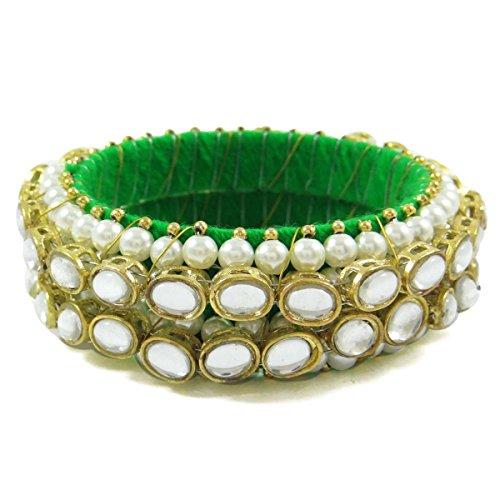 Indianbeautifulart indian Wollfaden Armreifen indischen Mode-Armband Schmuck-Geschenk-Set für Frauen sz 2 * 8