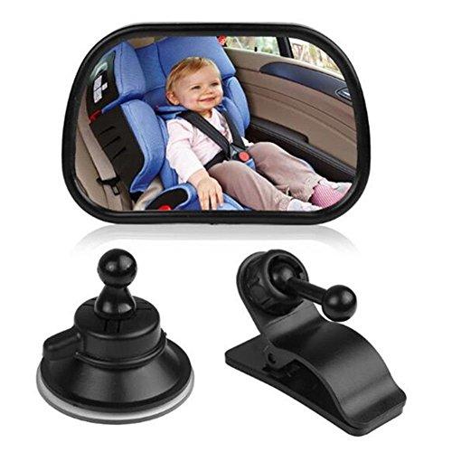 ZYTC Espejo para coche de bebé Espejo de coche de seguridad para bebé Espejo retrovisor ajustable para asiento trasero con ventosa