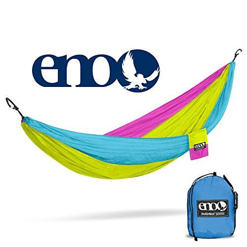 ENO Eagles Nest Outfitters - DoubleNest Hammock, Portable Hammock for Two, Retro-Tri Color