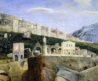 West Wall of the Camera degli Sposi (Detail) c 1431-1506 Andrea Mantegna (1431-1506Italian) Fresco Palazzo Ducale Mantua Poster Print (24 x 36)
