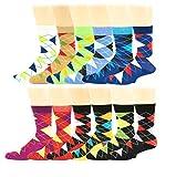 12 Pairs Colorful Fashion Design Dress socks 10-13 (12 Pairs Argyle)