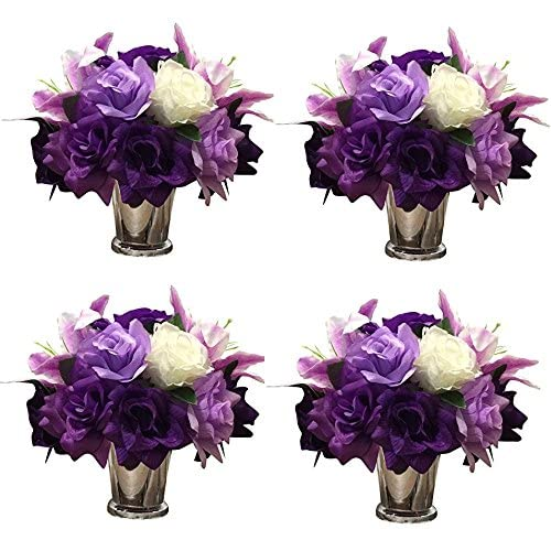 Purple Floral Centerpieces Amazon Com