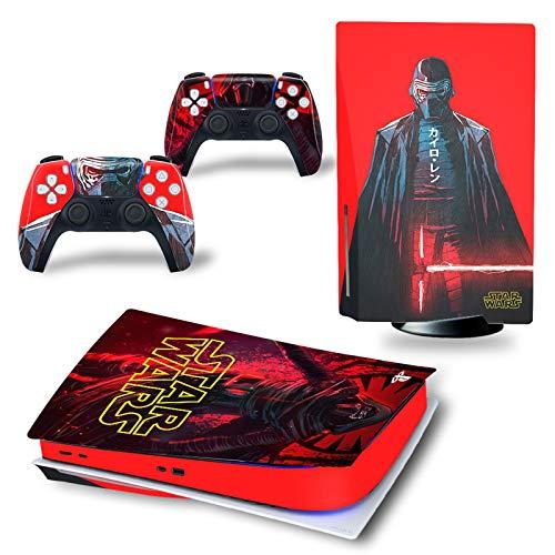 PS5 Skin Stars Wars Esta pegatina de PVC se utiliza para proteger la consola de disco Playstation 5 y las superficies de 2 controladores Control