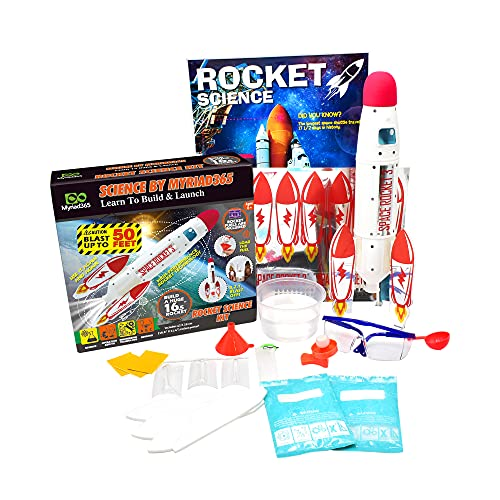 MYRIAD365 Rocket Science Kit for Kids - STEM Toys Kids Rocket Kit for Boys Girls | Science Experiments for Kids | Best Toys for 8 Year Old Boys | Gift for Boys | Rocket Launcher for Kids
