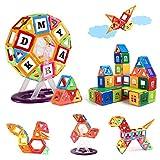 KIDCHEER Magnetic Tiles STEM Toddler Toys 134PCS Kids Magnet Building Blocks Game Educational Stacking Blocks Gift for Boys & Girls