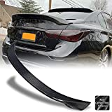 AeroBon Real Carbon Fiber Trunk Spoiler Wing Compatible with 2014-21 Infiniti Q50 Q50S Sedan (AS Style)