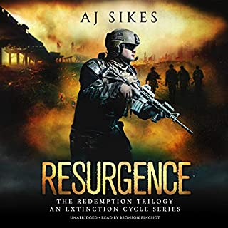 Resurgence     An Extinction Cycle Story (The Redemption Series, Book 3)              By:                                                                                                                                 AJ Sikes                               Narrated by:                                                                                                                                 Bronson Pinchot                      Length: 7 hrs and 4 mins     1 rating     Overall 4.0