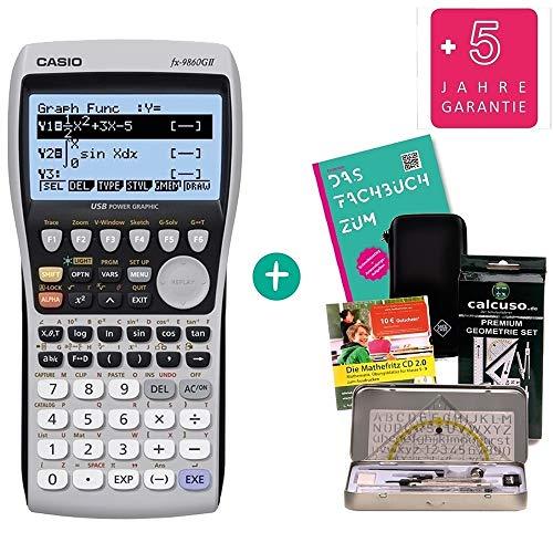 Streberpaket: Casio FX-9860GII + Schutztasche + Fachbuch + erweiterte Garantie + Lern-CD