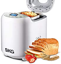 SKG Automatic Bread Machine with Recipes Multifunctional Loaf Maker for Beginner Friendly - 2LB