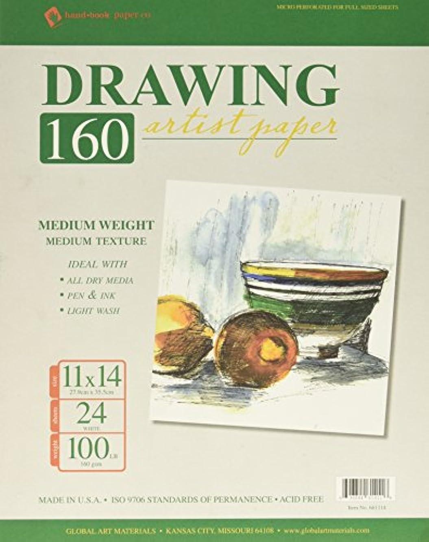 Global Art Spiral Drawing Pad, 11 by 14-Inch, 24-Sheet rsepynlns839416