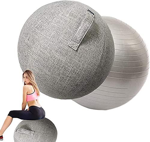 Nuiik-C22x Funda de Silla de Bola de Estabilidad para Oficina -55/65 / 75cm Asiento ergonómico/Trabajo de Parto Embarazo/Yoga Equilibrio Estabilidad Ejercicio Fitness (Color : Gray, Talla : 75cm)
