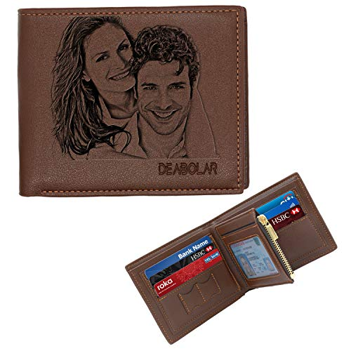 Aolun Billetera Personalizada Hombre,Cuero Billetera,Billeteras Person