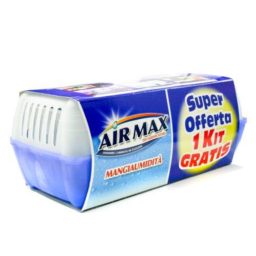 2kit Deumidificatore mangia umidità con sali da 450gr omaggio inodore Air Max