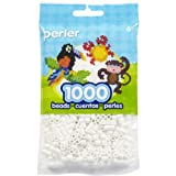 Perler Beads Fuse Beads for Crafts, 1000pcs, White