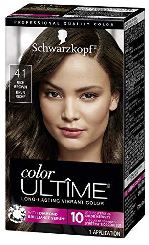 Schwarzkopf Color Ultime Hair Color Cream, 4.1 Rich Brown