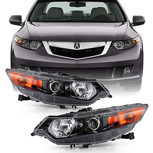 ACANII - For [HID/Xenon Model] 2009-2014 Acura TSX Factory OE Style Projector Headlights Headlamps Assembly Left+Right