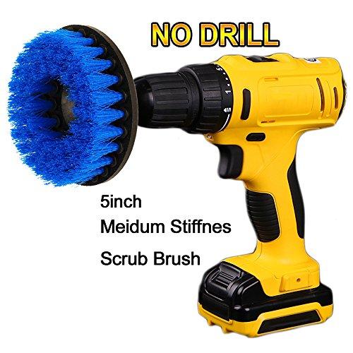Potente escobilla con taladro Oxoxo, para la limpieza de duchas, bañeras, baños, azulejos, lechadas, alfombras, neumáticos, barcos