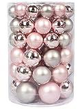 Inge-glas Kugeldose 60 TLG Soft Simplicity Weihnachtskugeln Christbaumkugeln rosa Silber